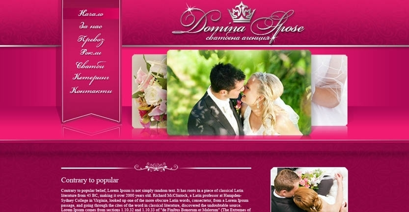 Domina Spose Web Design