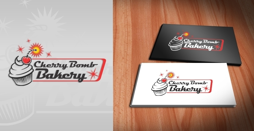 Cherry Bomb Bakery Logo Design