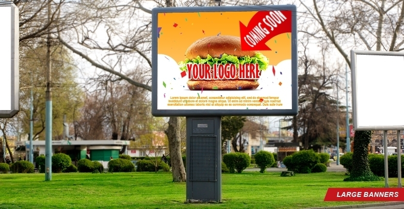 Singage Design for Large Banner