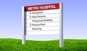 Exterior Directional Signs