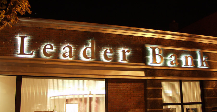 Leader Bank Illuminated 3D Letters