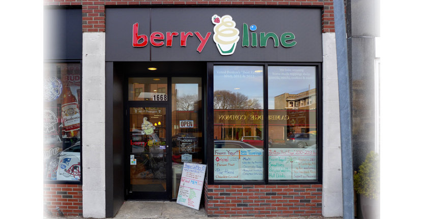 Front View of Berry Line Storefront 3D Non Illuminated Letters