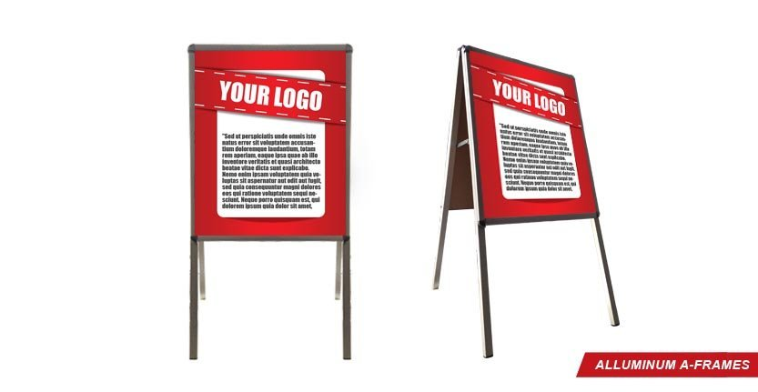 Aluminum A-Frames with Your Logo