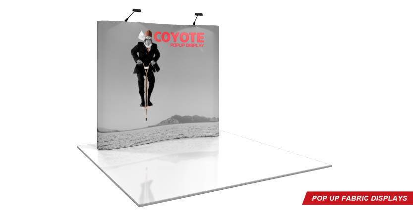 Coyote Trade Show Pop-Up Display with Eigth Full Hight System