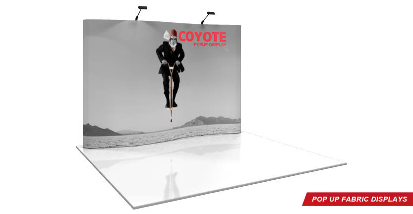Coyote Trade Show Pop-Up Display with Eleven Full Hight System