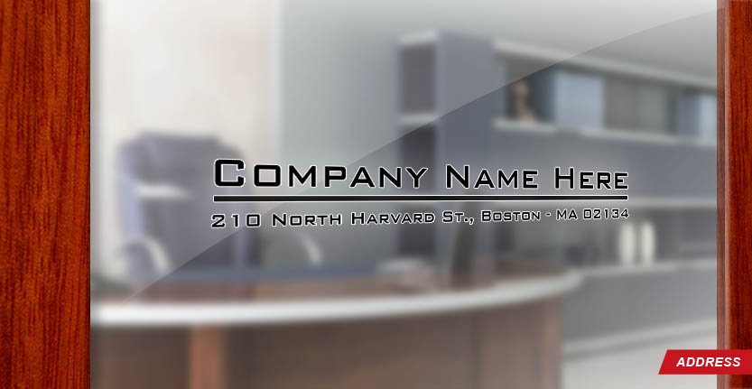 Door Address with Your Company Name