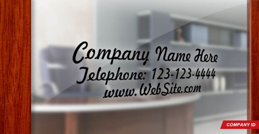 Door Signs Company ID in Black
