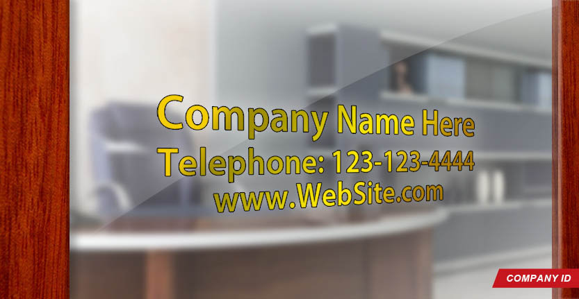 Door Signs Company ID in Gold