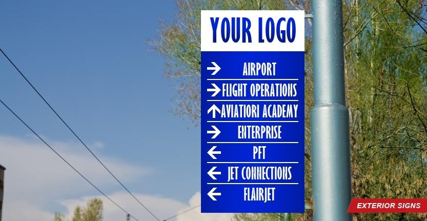 Exterior Directional Sign with Your Logo