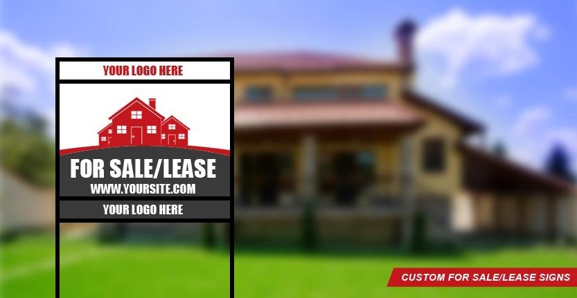 Real Estate For Sale/Lease Sign with Your Company Logo