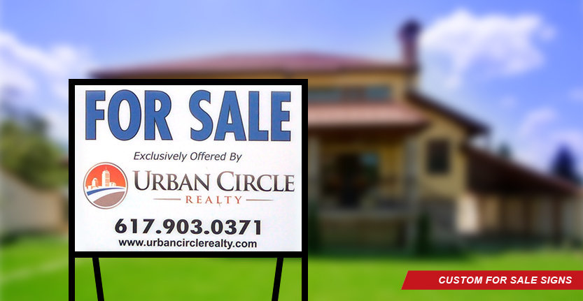 Urban Circle Real Estate Sign for Sale