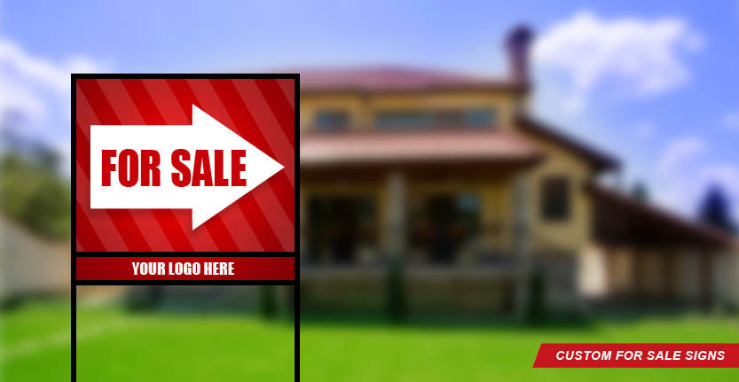 Red Arrow Real Estate For Sale Sign