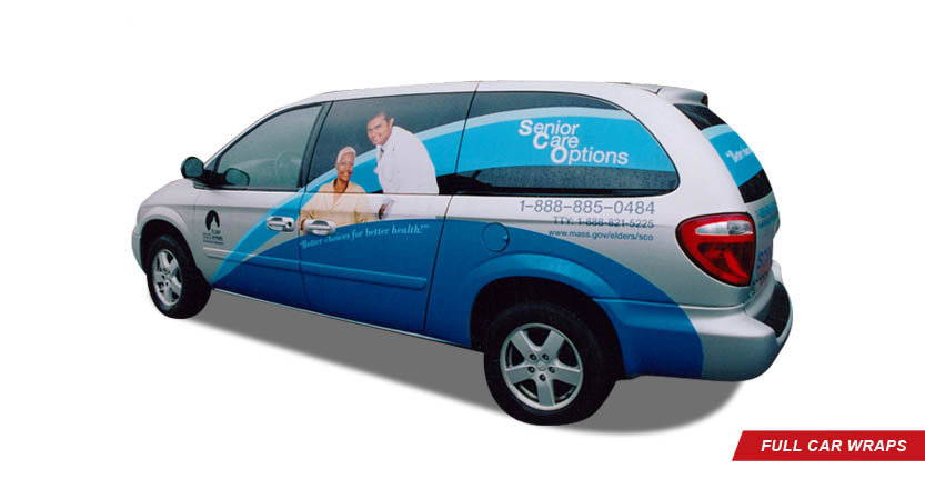 Vehicles Full Car Wrap of Senior Care Options
