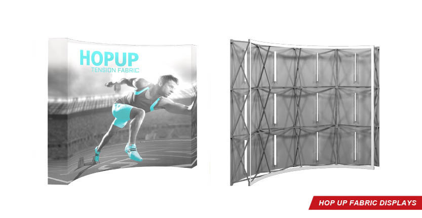 Trade Show Hop Up Tension Fabric Display