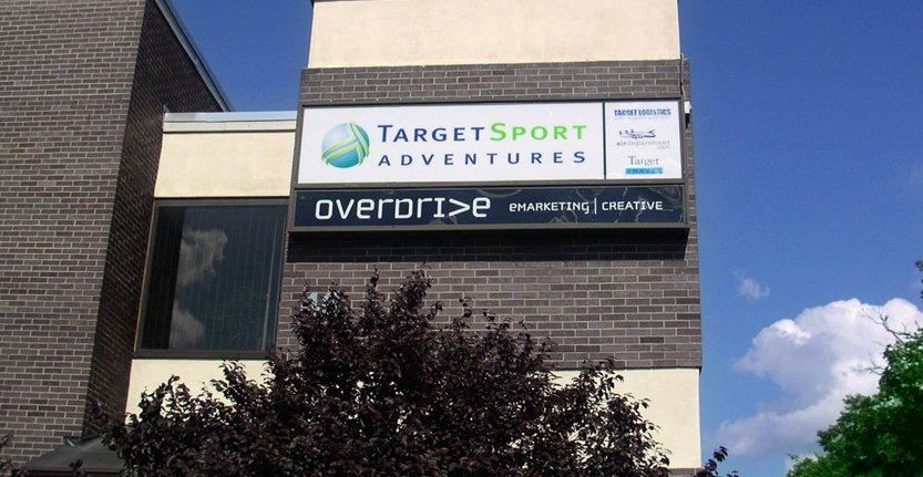 Day View of Target Sport Adventures Exterior Illuminated Sign