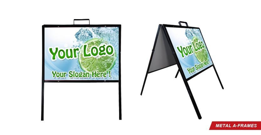 Metal A-Frame with Your Logo
