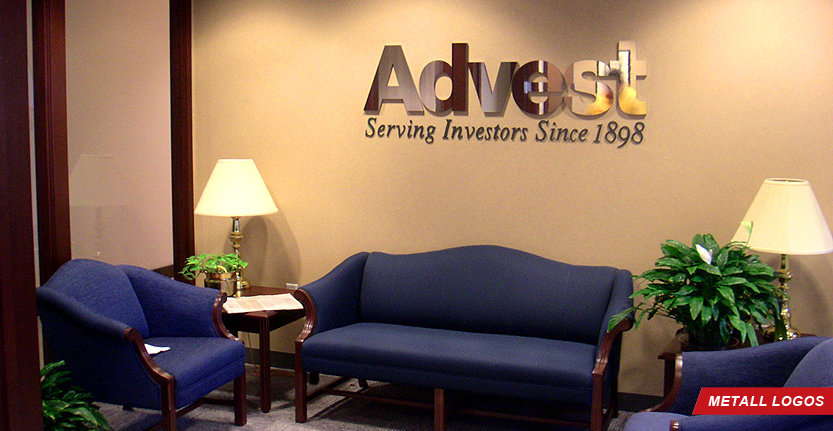 Advest Metal Lobby Logo