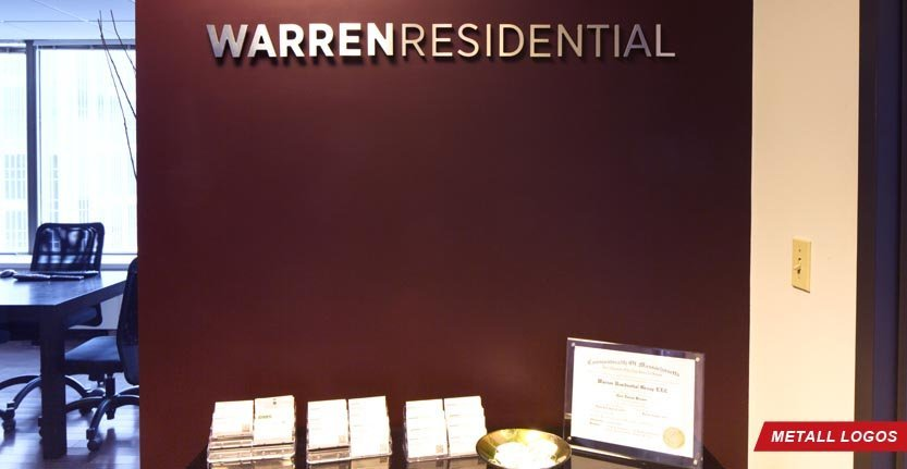 WarrenResidential Metal Lobby Logo