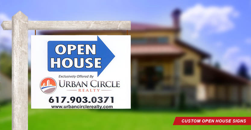 Urban Circle Real Estate Open House Sign