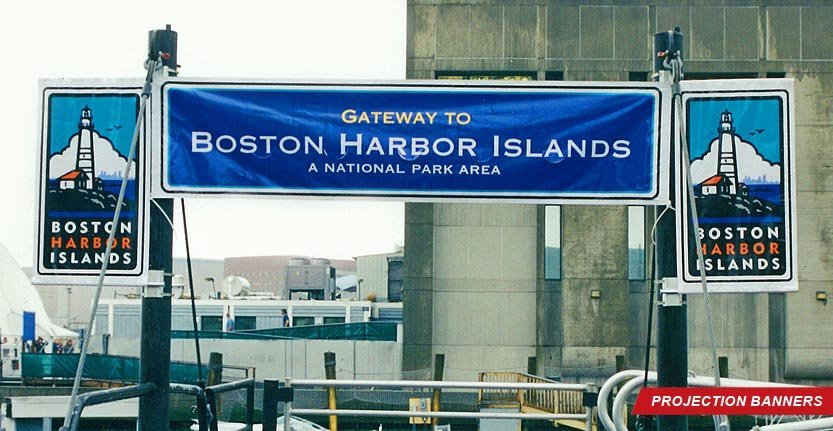 Projection Banner of Boston Harbor Islands