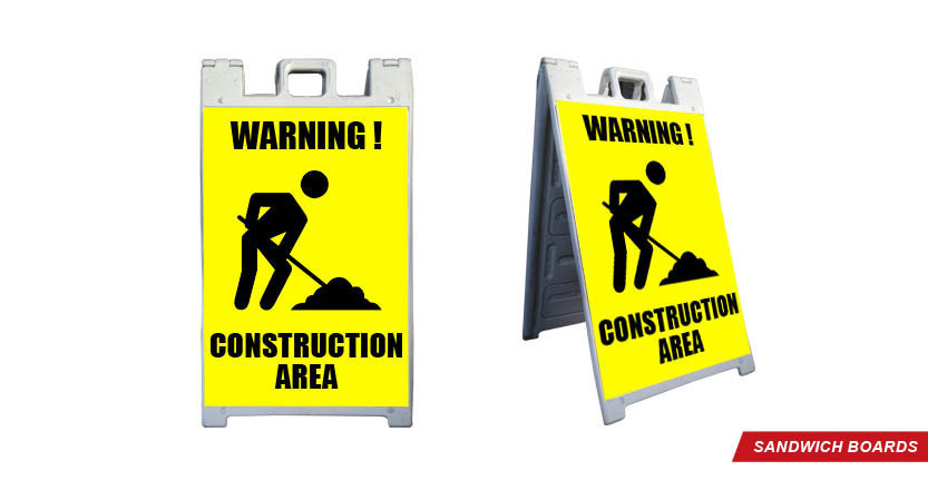 Construction Area Sandwich Board
