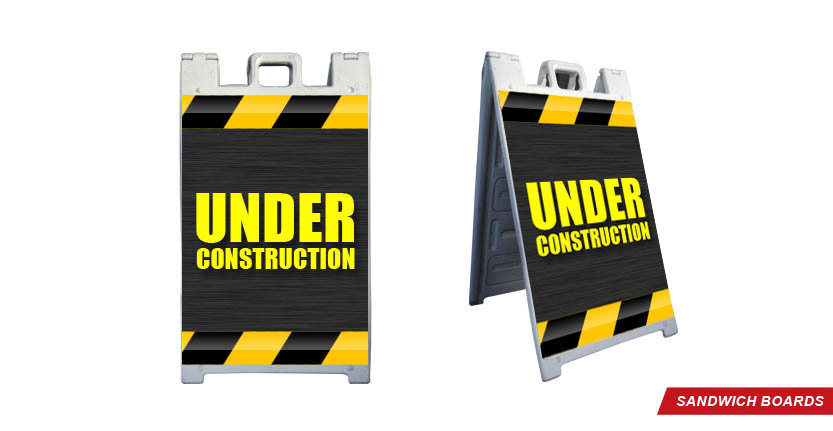 Under Construction Sandwich Board