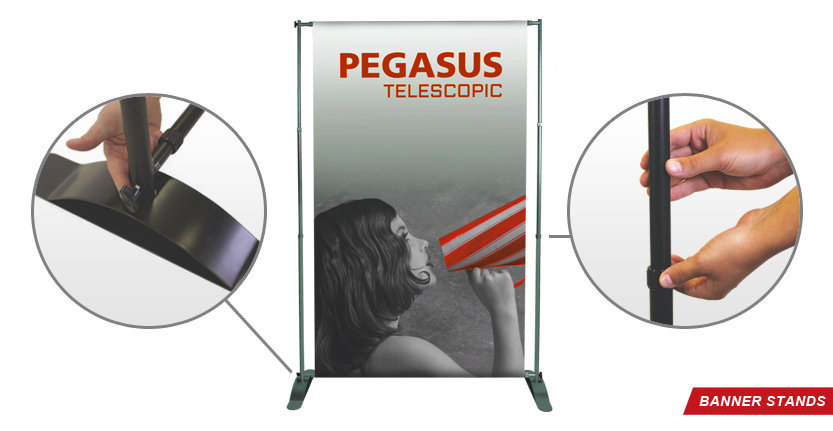 Pegasus Banner Stand for Trade Shows