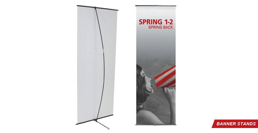 Spring Banner Stand for Trade Shows