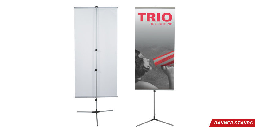 Trio Banner Stand for Trade Shows