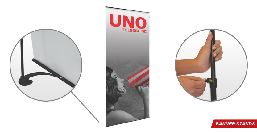 Uno Banner Stand for Trade Shows