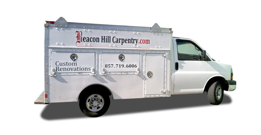 Vehicles Vinyl Lettering of Beacon Hill Carpentry
