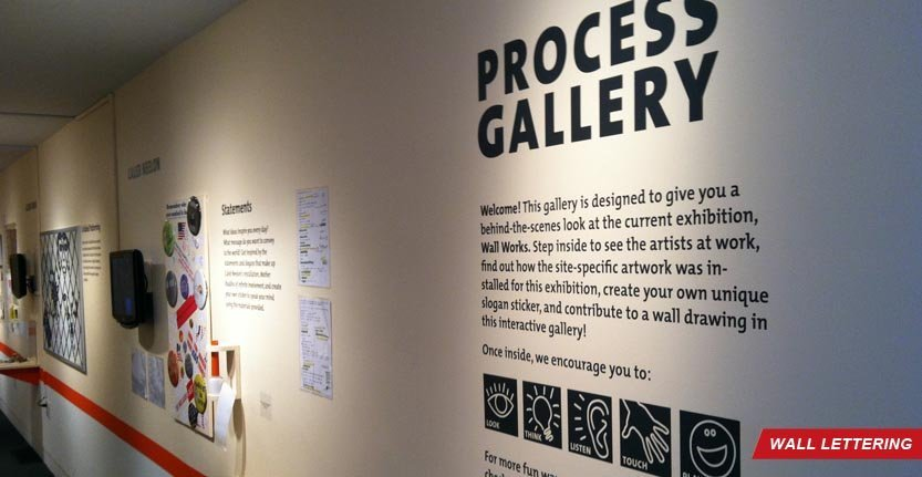 Process Gallery Lobby Wall Lettering