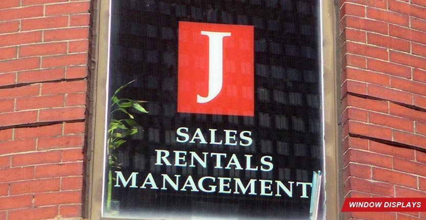 J Sales Retail Management Window Display