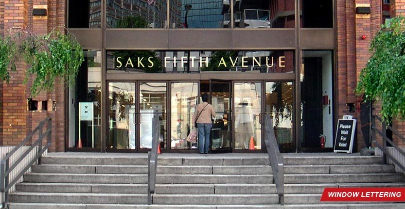 Saks Fifth Avenue Window Lettering