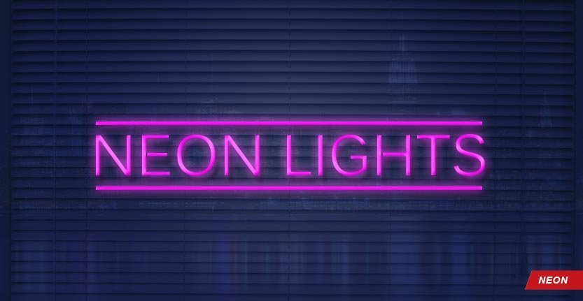 Neon Lights Window Sign