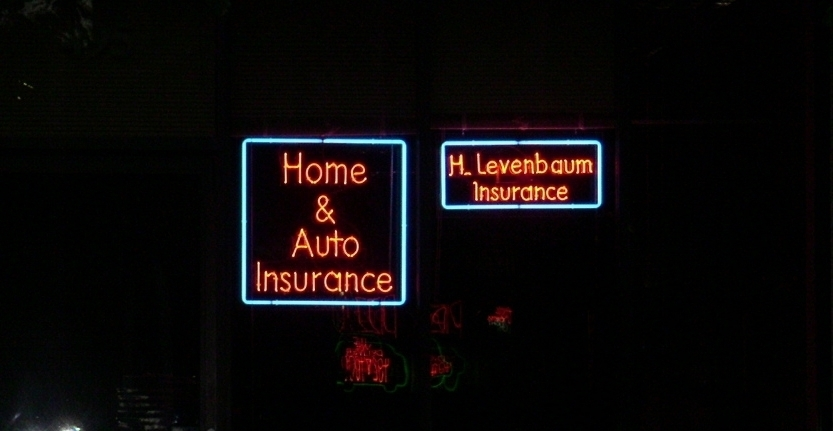 Levenbaum Insurance Illuminated 3D Letters