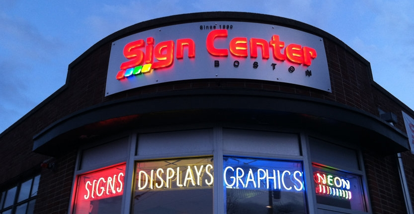 Sign Center Boston Illuminated 3D Letters