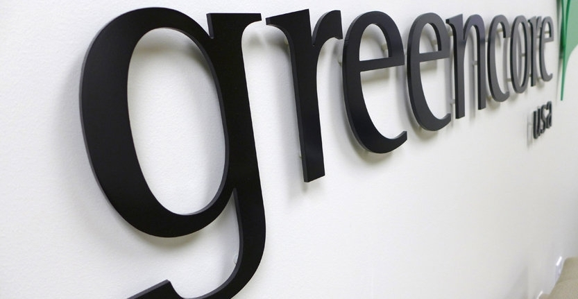 Side View of Greencore Non-Illuminated 3D Letters and Logos