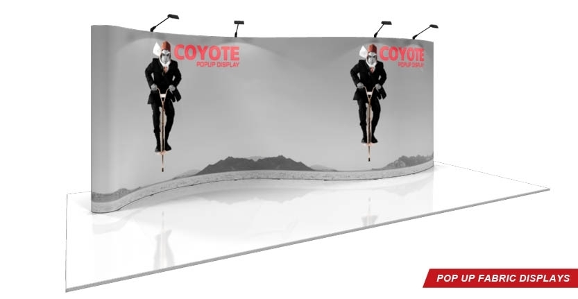 Coyote Trade Show Pop-Up Display with Full Trade Show Exhibit System