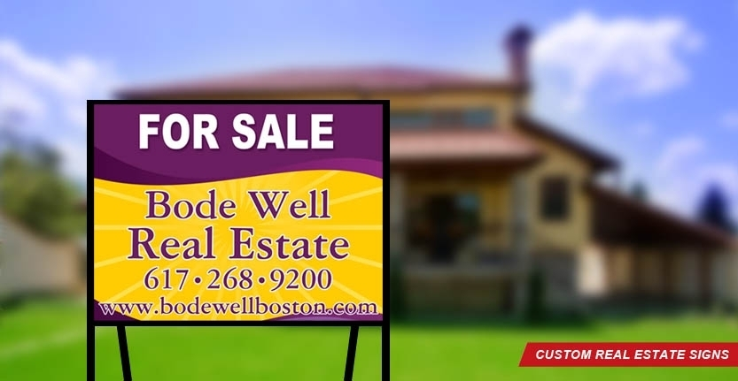 Bode Well Custom Real Estate Sign