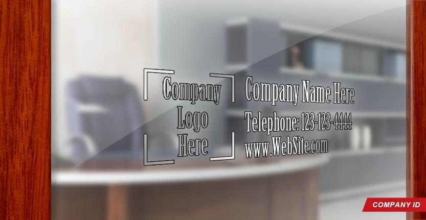 Door Signs Company ID in Silver