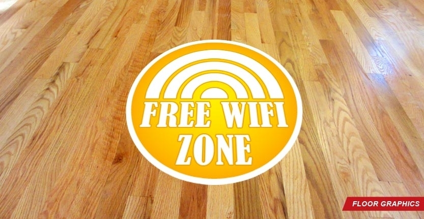 Free Wifi Zone Floor Graphic