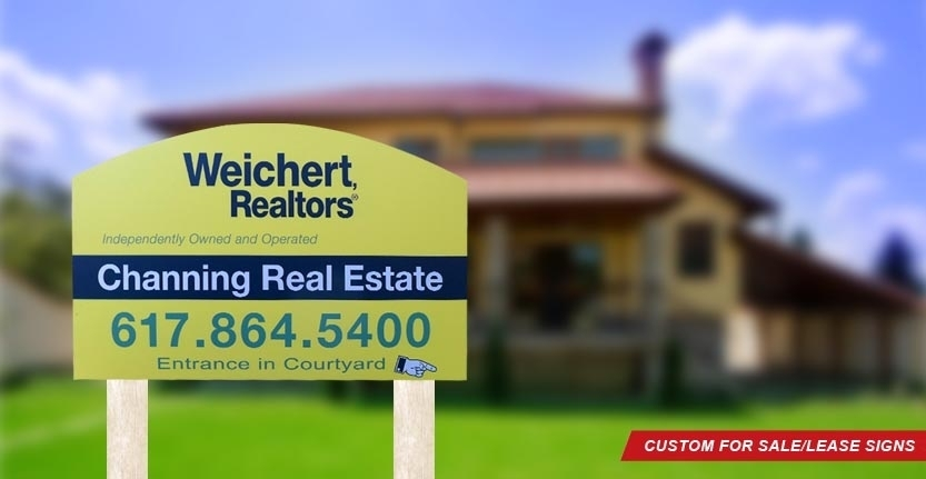 Weicher Realtors Real Estate For Sale/Lease Sign
