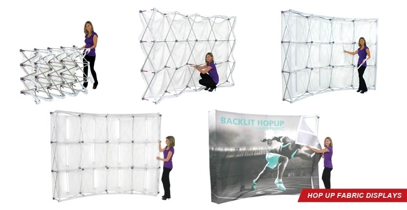Trade Show Hop Up Backlit Fabric Display