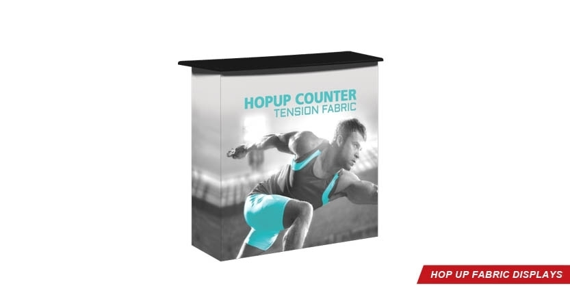Trade Show Hop Up Counter Fabric Display