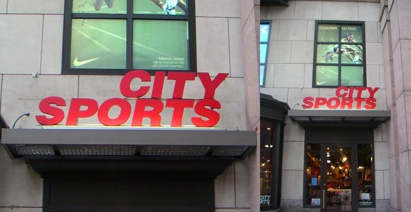 Day View of City Sports Exterior Illuminated Sign