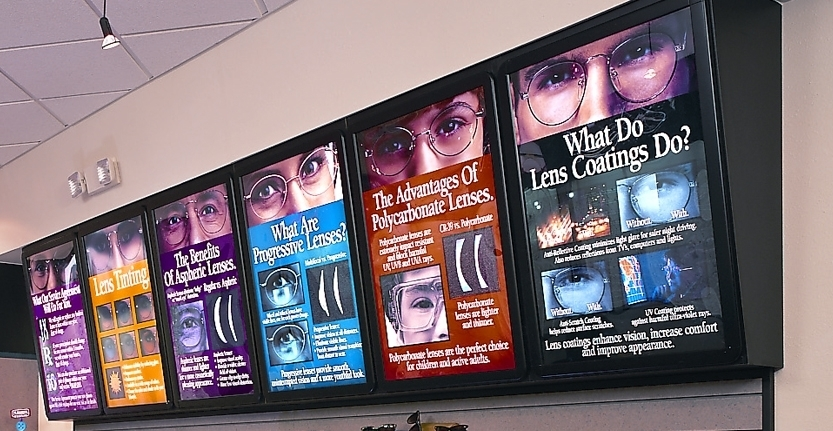 Close View of Interior Illuminated Signs