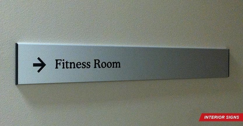 Fitness Room Directional Interior Sign