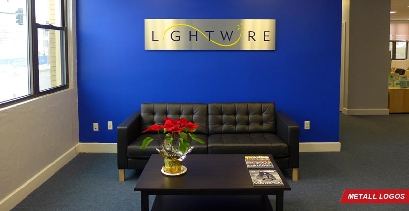 Lightwire Metal Lobby Logo