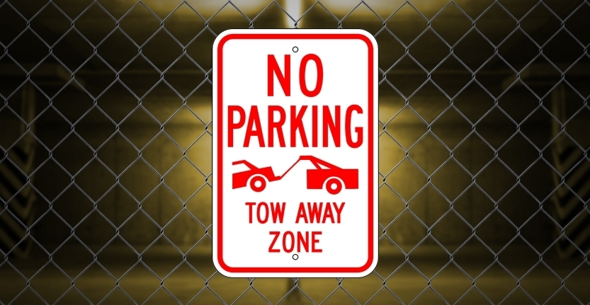Tow Away Zone No Parking Sign